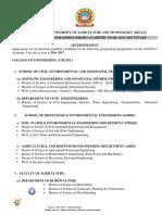 Postgraduate Programmes May 2017 Intake