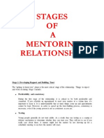Stages of Mentoring Relationship