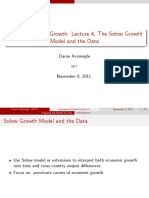 Lecture 4 - The Solow Growth Model and the Data (1)