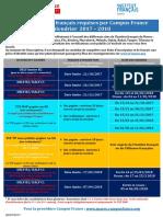 Calendrier Delf Dalf Tcf 2017-2018 19 07 2017