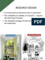 Unit –III Research Design