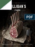 Gilligans Farm Meat Brochure