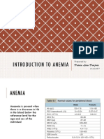Introduction to Anemia and Classification