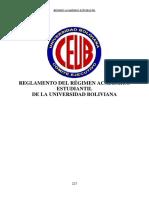 Reglamento Del Regimen Academico Estudiantil - XI Congreso