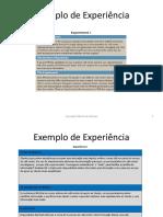 Exemplo de Experiência - Traduçao