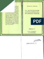 La Investigacion Social en Latinoamerica