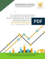 EPGDM Business Analytics Brochure
