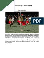 Tarian Adat Daerah Maluku Utara