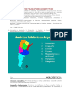 Ámbitos Folcloricos Argentinos