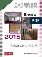 Tarifa Precios _ Koolair 2015