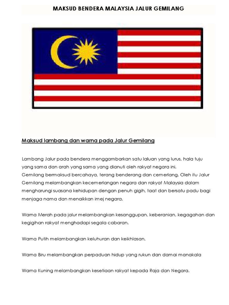Maksud Warna Kuning Di Bendera Malaysia
