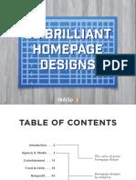 50 Brilliant Homepage Designs