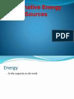 Alternative Energy Sources report