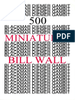 500 Blackmar-Diemer Gambit Miniatures by Bill Wall