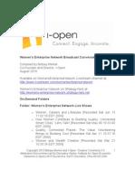 Women's Enterprise Network Broadcast Conversation Index