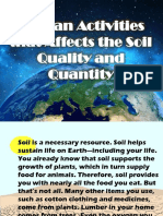 Human Activities That Affects the Soil Quality And