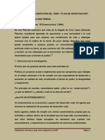 Delimitacion Del Tema y Plan de Investigacion