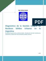 Banco Mundial Diagnóstico de La Gestión Integral de RSU en Argentina BM - Jul 2015