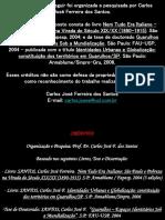 A - Apresentação - Curso de Extensão História de São Paulo 2007