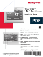Honeywell Wi-Fi 9000 Touchscreen Thermostat Installation Manual
