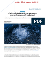 ¿Cuál Es El Nivel de Cobertura de Agua y Saneamiento de América Latina_ _ Planeta Futuro _ EL PAÍS