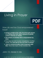 living in prayer