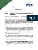 Circular # 2 Hospedaje y Traslados Equipo Evaluador ONAC(Julio 2013)
