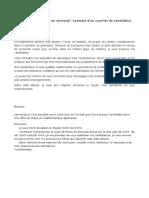 Model Lettre Motivation Doctorat