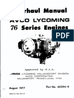 Lycoming  O320-H2AD 76 Overhaul Manual