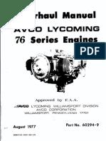 Lycoming  O320-H2AD 76 Overhaul Manual