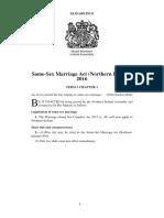 Same-Sex Marriage Act (Northern Ireland) 2016