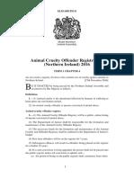 Animal Cruelty Offender Registry Act (Northern Ireland) 2016