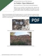 Arqueología Profesional en Toledo_ El Arte de Morir en Toledo- Cipos Islámicos I