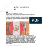 Gastronomía y Propiedad Intelectual
