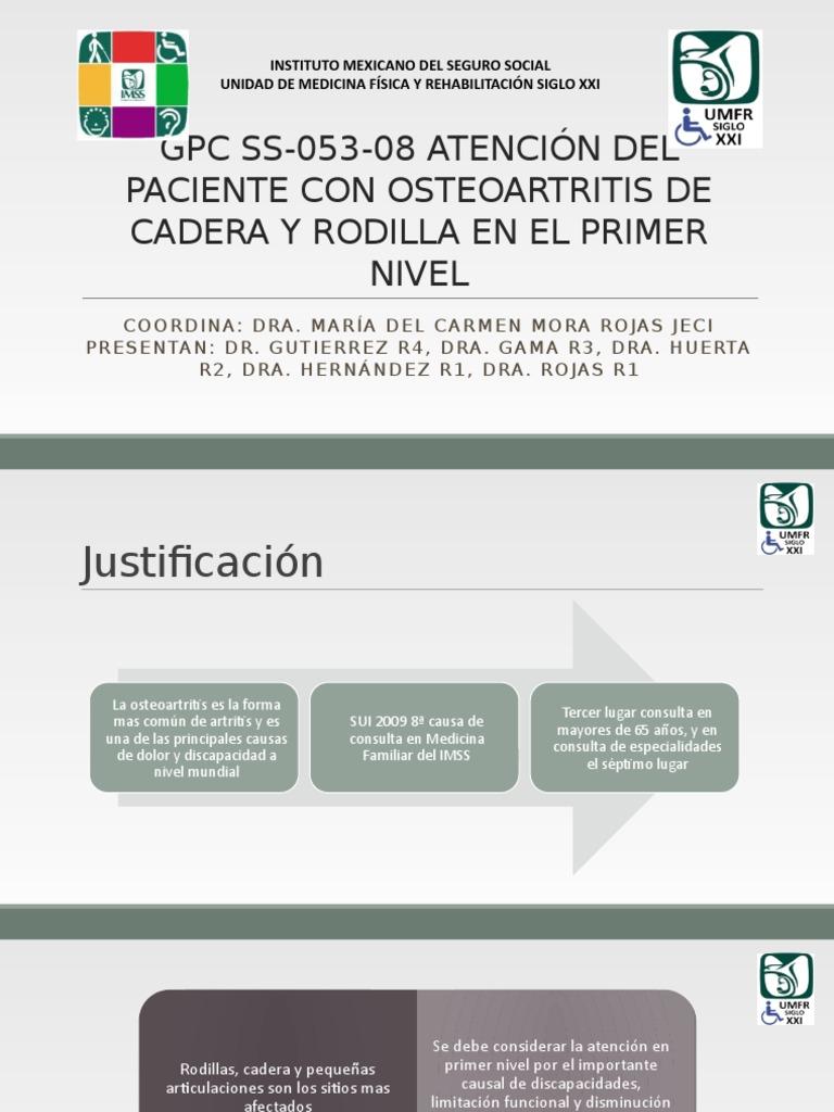 osteoartritis pdf imss