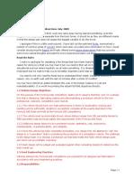 Design Debrief Notes 2009
