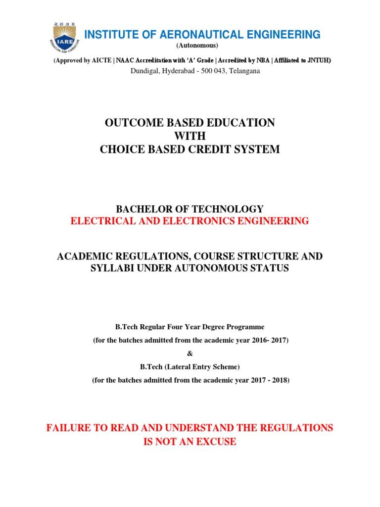 Iaree autonomous regulations and syllubus12 course credit iaree autonomous regulations and syllubus12 course credit academic term fandeluxe Images