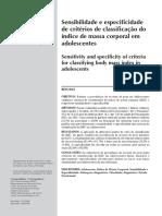2009 FariasJr Sensibilidade Especificidade IMC Adol RevSaudePubl[1]