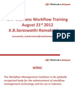 Workflow Overview Training August 21-24 2012