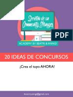 20 Ideas de Concursos