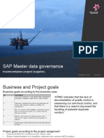 Master Data Governance of Supplier in Statoil