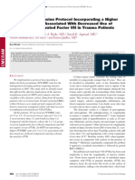 A Massive Transfusion Protocol Incorporating a Higher FFPRBC Ratio is Asso