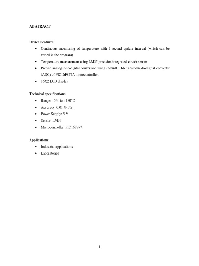 Final Report Tc Analog To Digital Converter Microcontroller Using Pic16f877a