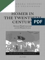 Graziosi/Haubold (ed.), Homer in the Twentieth Century