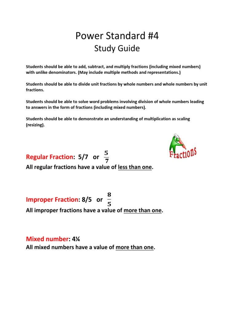 Ps 4 study guide fraction mathematics numbers falaconquin