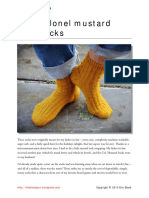 Colonel Mustard Socks Knit