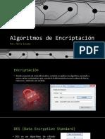 Algoritmos de Encriptación
