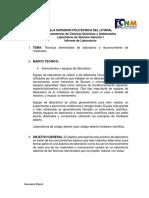 Practica 1 Laboratorio de química Reporte ESPOL