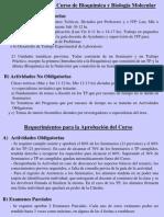 Clase01-Organizacion Del Curso-Importancia de La Bioquimica en Medicina