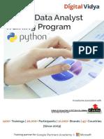 Python Data Analytst DAP